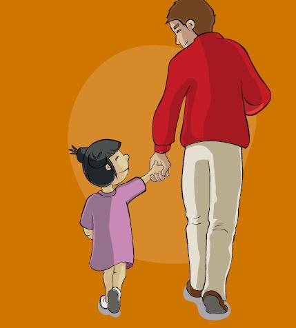 Parte de la portada de la Guía sobre parentalidad positiva de Save the children
